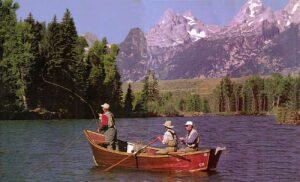 the wooden drift boat