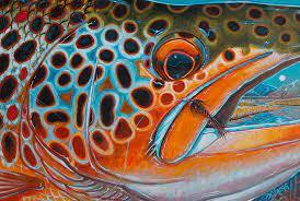 fly fishing art
